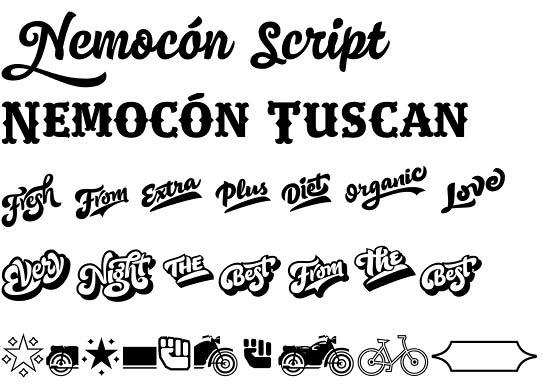 Nemocon font