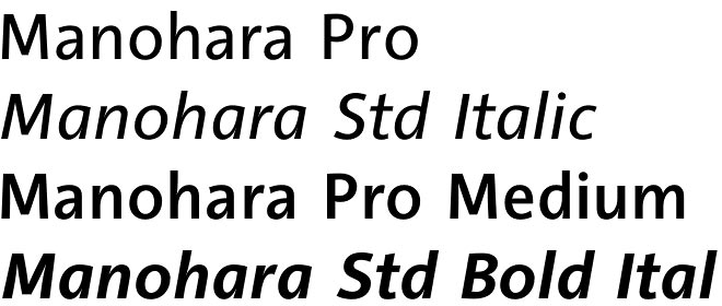 PTL Manohara font