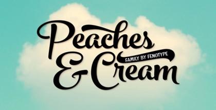 Peaches and Cream font