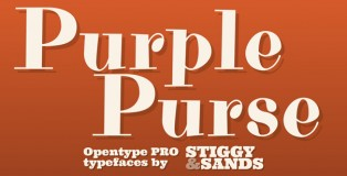 Purple Purse Pro font