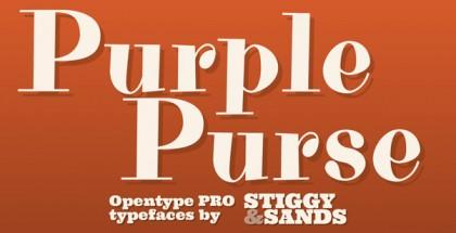 Purple Purse Pro font