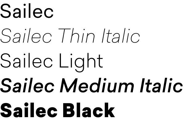 Sailec font attracts with pure lines and clean geometry