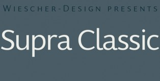 Supra Classic font