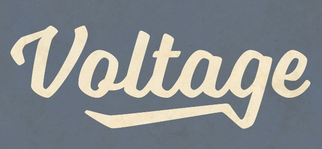 voltage font by laura worthington
