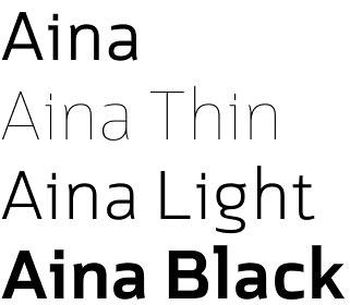 Aina font
