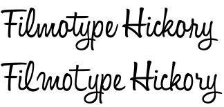 Filmotype Hickory font