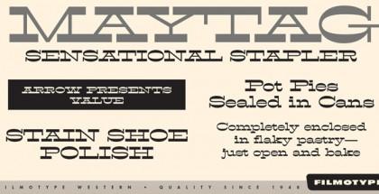 Filmotype Western font