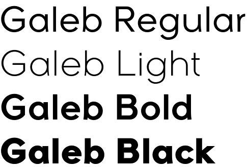 Galeb font