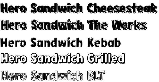 Hero Sandwich Combos