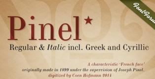 Pinel Pro font