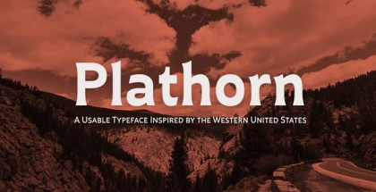 Plathorn font