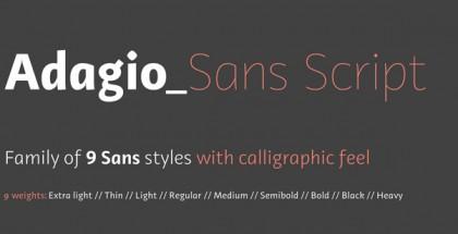 Adagio Sans Script