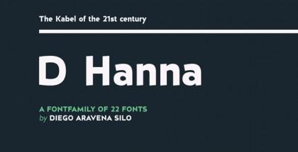 D Hanna font