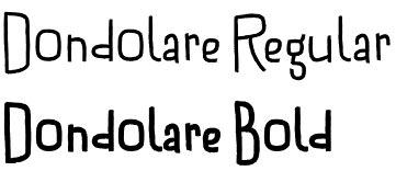 Dondolare font