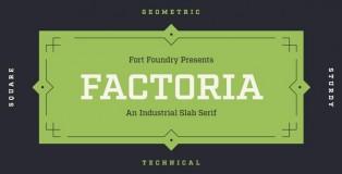 Factoria font