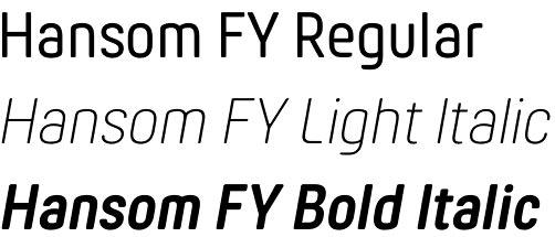 Hansom FY font