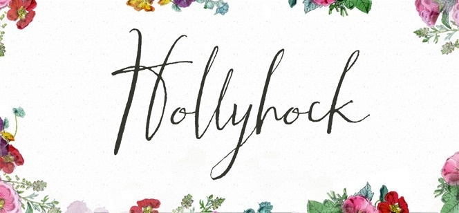 Hollyhock font