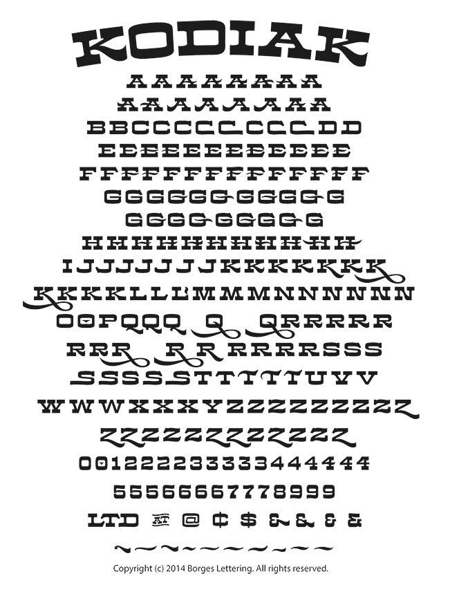 Kodiak font