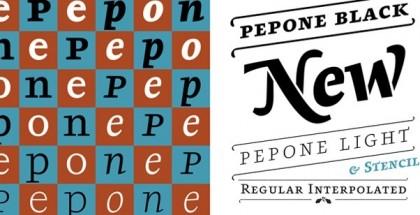 Pepone font