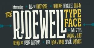 Ridewell font