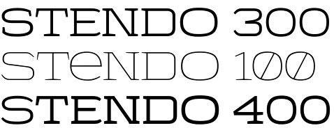 Stendo font