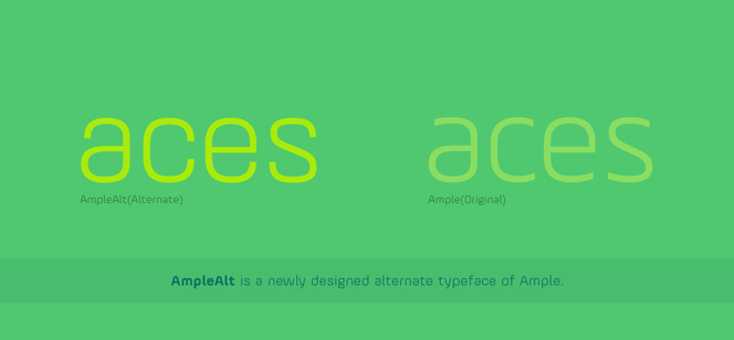 AmpleAlt font
