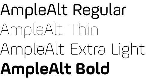 AmpleAlt font by Soneri – another elegant Ample member