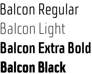 Balcon font