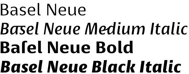 Basel Neue font