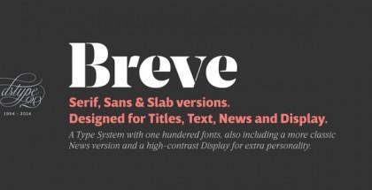 Breve font system