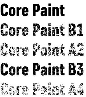 Core Paint font