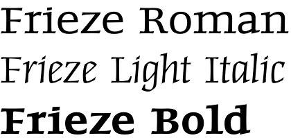 Frieze font