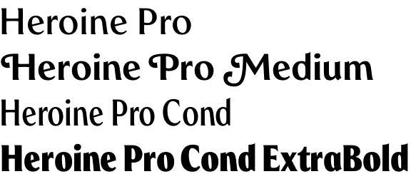 Heroine Pro font