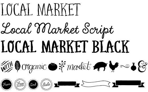 Local Market font