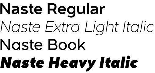 Naste font
