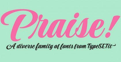 Praise font