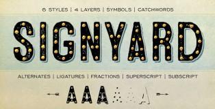 Signyard font