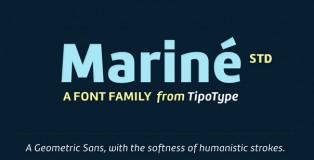 Mariné STD font