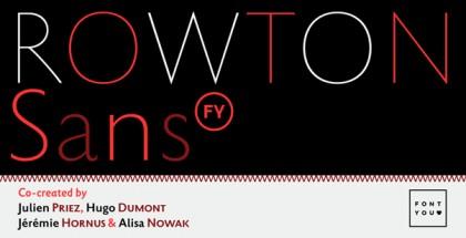 Rowton Sans FY font