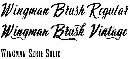 Wingman font