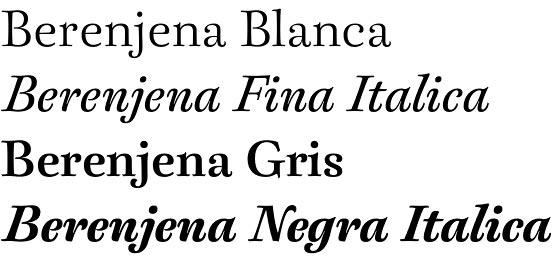Berenjena font