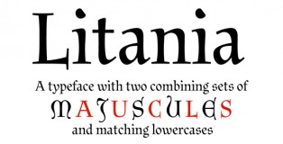 Litania font