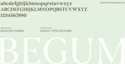 Begum font