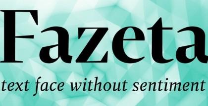 Fazeta typeface