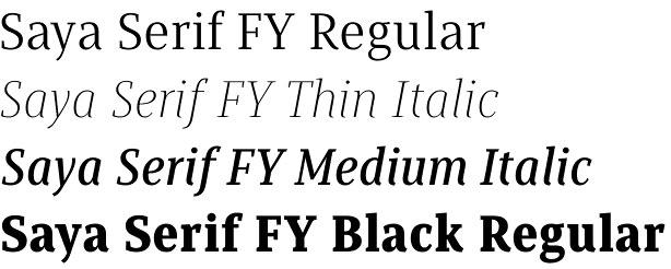 Saya Serif FY