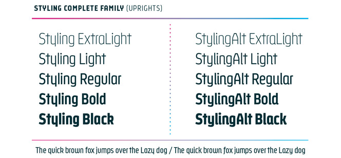 Styling font