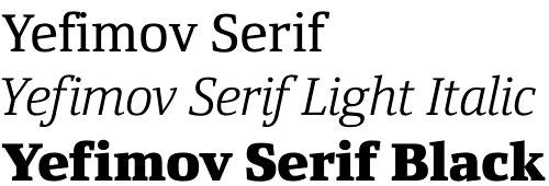 Yefimov Serif