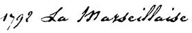 1792 La Marseillaise font