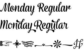 Monday typeface