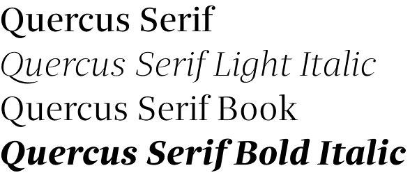 Quercus Serif font family